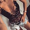 Комбидресс - боди на шнуровке Flouer эротический купальник кружевной комбидресс, фото 5