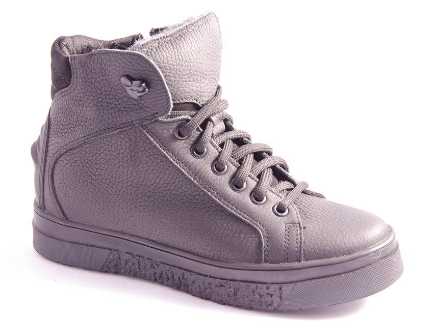 Ботинки подростковые черные Mida 34193