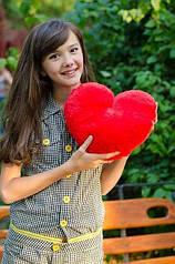 Плюшевое сердце 30см