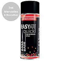 Автомобильная Краска в Баллончиках Серебристый Металлик 744 Mercedes CSS EASY ART Quick BASE  400мл