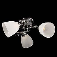 Люстра потолочная на три плафона диаметром 12см SZ-7501/3 CR