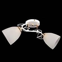 Люстра стельова на два плафона діаметром 12см SZ-7501/2 WH+FGD