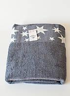 Полотенца банное махровое звездочки (грифель), фото 1