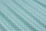 Поплін з горошком 6 мм, фон - пилова м'ята, ширина 240 см (№3063), фото 4