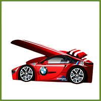 Кровать машина (ліжко дитяче) серия Элит для мальчика BMW красный