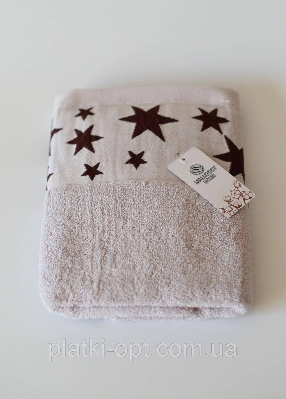 Полотенца махровое звездочки (светло серое)