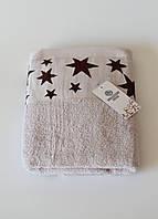 Полотенца махровое звездочки (светло серое), фото 1