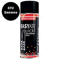 Автомобільна Фарба в Балончиках Чорний Металік 87U Daewoo CSS EASY ART Quick BASE 400мл