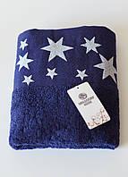 Полотенца махровое звездочки (синее), фото 1