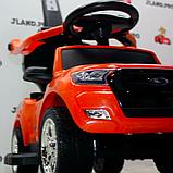 Дитячий толокар элетромобиль 2 в 1 Ford Ranger Ліцензія з батьківською ручкою, M 3575 помаранчевий, фото 3