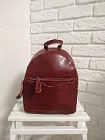 """Женский кожаный рюкзак, сумка, трансформер """"Моника Red Wine"""", фото 1"""