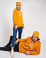 Толстовка худи унисекс оранжевая, фото 3