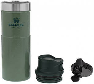 Термокружка Stanley Classic Trigger-action 470 мл Hammertone Green, фото 2