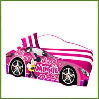 Кровать машина (ліжко дитяче) серия Элит для девочек Минни Маус DISNEY розовая