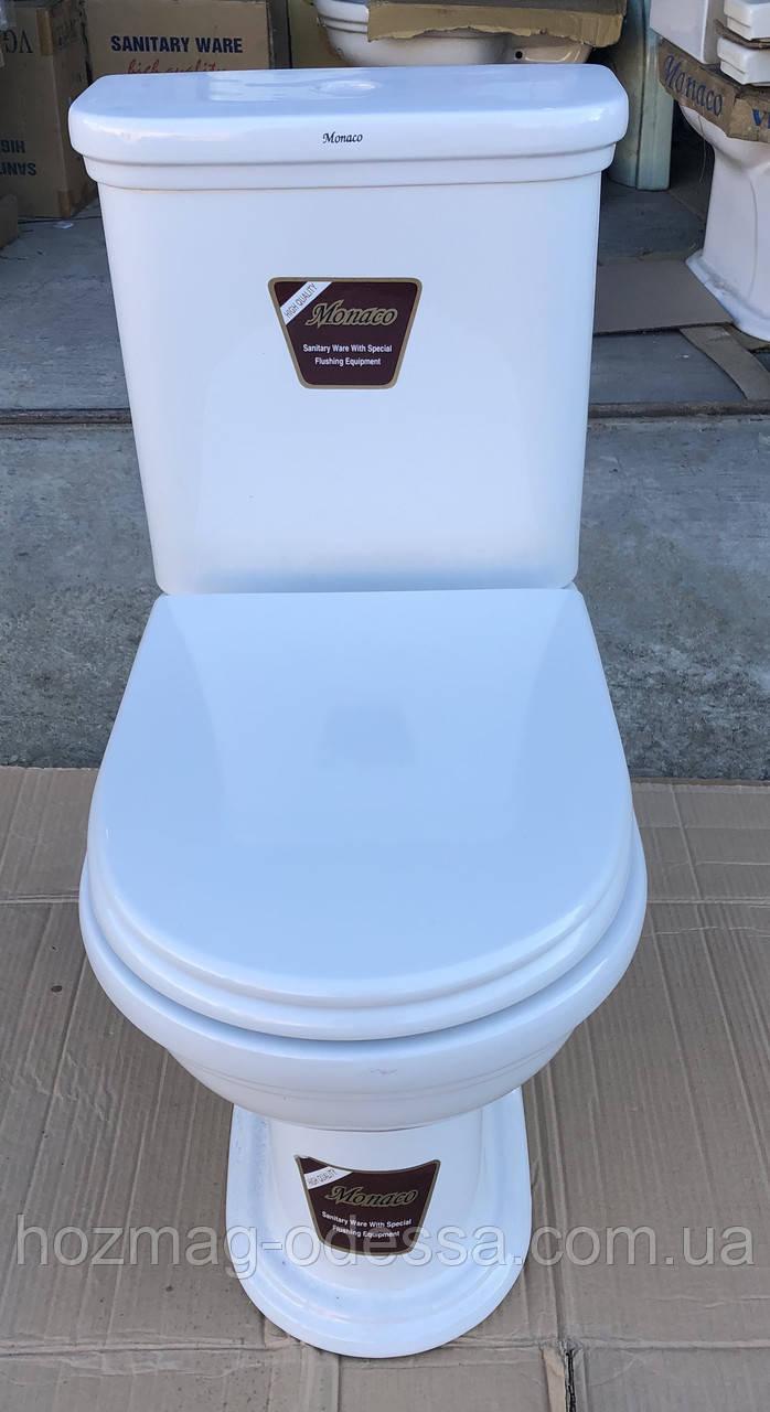 Сиденье для унитаза Monaco(Монако), АНАЛОГ! белое, микролифт