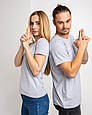 Футболка женская серая 100% cotton, фото 4
