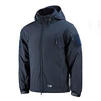 M-Tac куртка Soft Shell с подстежкой Dark Navy Blue софтшел темно синяя зимняя