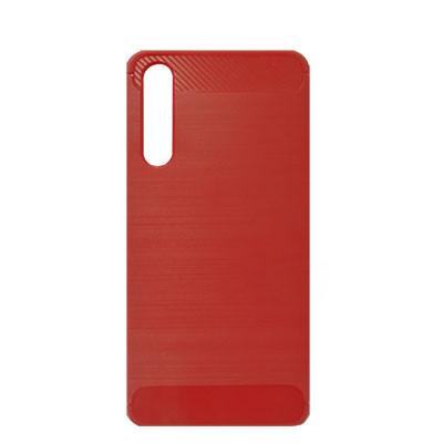 Силиконовый чехол Polished Carbon Huawei P20 Pro (CLT-L09)  (Красный)