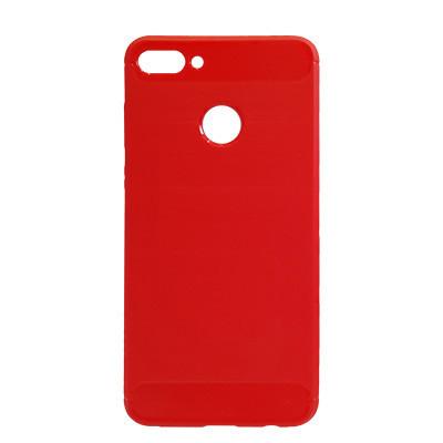 Силиконовый чехол Polished Carbon Huawei Y9 2018 (FLA-LX1)  (Красный)