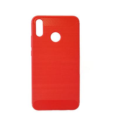 Силиконовый чехол Polished Carbon Huawei Y9 2019 (JKM-LX1)  (Красный)