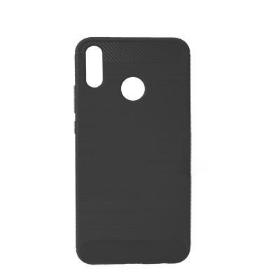 Силиконовый чехол Polished Carbon Huawei Y9 2019 (JKM-LX1)  (Чёрный)