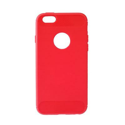 Силиконовый чехол Polished Carbon iPhone 5 (Красный)