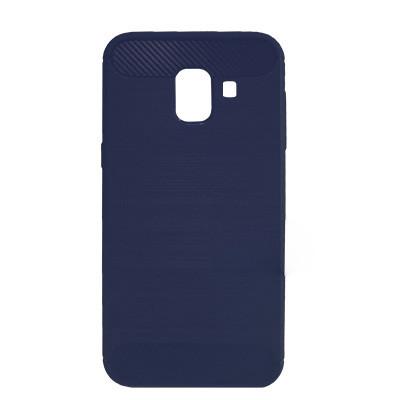 Силиконовый чехол Polished Carbon Samsung A730 Galaxy A8  Plus 2018 (Синий)