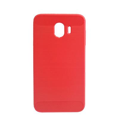 Силиконовый чехол Polished Carbon Samsung J400 Galaxy J4  2018 (Красный)