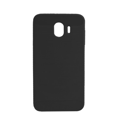 Силиконовый чехол Polished Carbon Samsung J400 Galaxy J4  2018 (Чёрный)