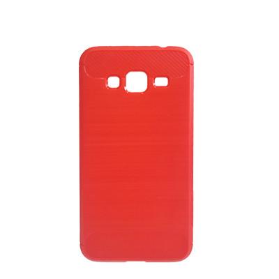 Силиконовый чехол Polished Carbon Samsung J500 Galaxy J5  (Красный)