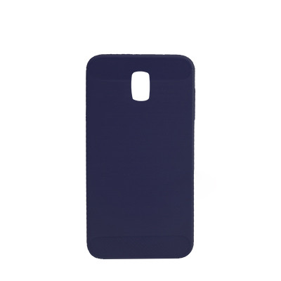 Силиконовый чехол Polished Carbon Samsung J530 Galaxy J5  2017 (Синий)
