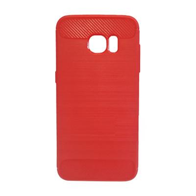 Силиконовый чехол Polished Carbon Samsung G935 Galaxy S7  Edge (Красный)