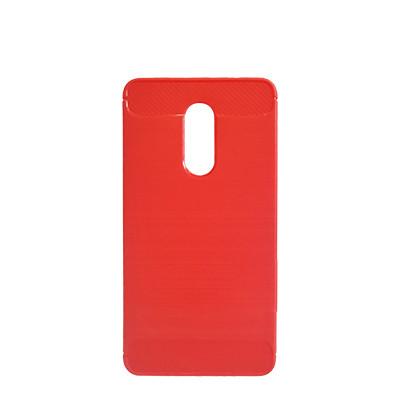 Силиконовый чехол Polished Carbon Xiaomi Redmi 5 Plus (Красный)