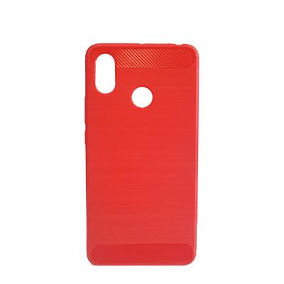 Силиконовый чехол Polished Carbon Xiaomi Redmi Note 5 Pro  (Красный)