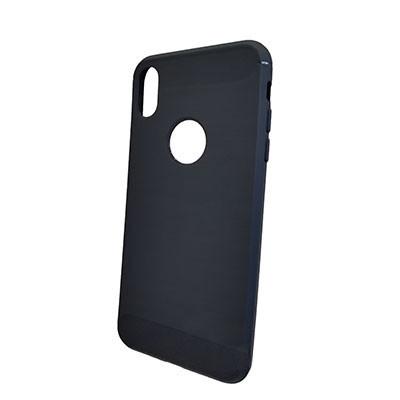 Силиконовый чехол Polished Carbon iPhone XS (Синий)