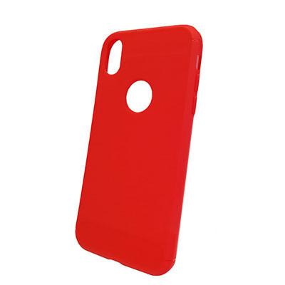 Силиконовый чехол Polished Carbon iPhone XS (Красный)