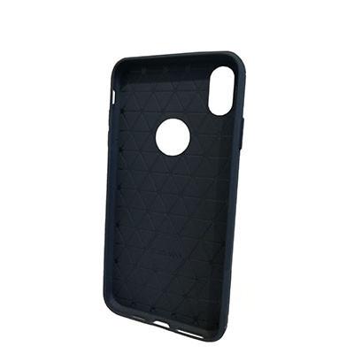 Силиконовый чехол Polished Carbon iPhone XR (Синий)