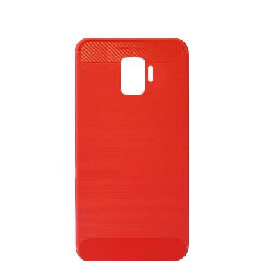 Силиконовый чехол Polished Carbon Samsung J260 Galaxy J2  Core 2018 (Красный)