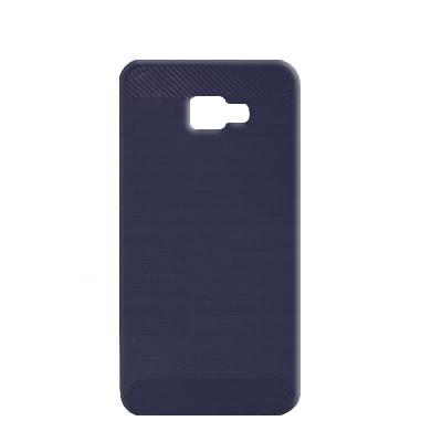 Силиконовый чехол Polished Carbon Samsung J415 Galaxy J4  Plus 2018 (Синий)