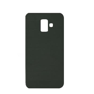 Силиконовый чехол Polished Carbon Samsung J610 Galaxy J6  Plus (Чёрный)