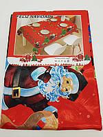 Скатертина новорічна атласна 95 х 145см., фото 1