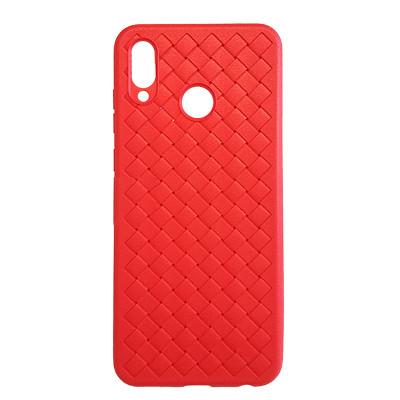 Силиконовый чехол Плетенка Huawei Nova 3 (PAR-LX1)  (красный)