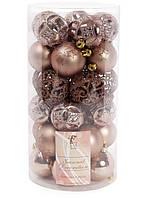 Набор пластиковых новогодних шаров на елку 30 шт*6 см, фото 1
