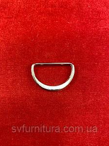 Металева перетяжка D 2 срібло 2.5 см