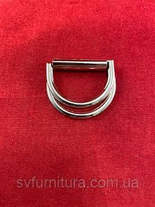 Металева перетяжка D 5 срібло 3 см