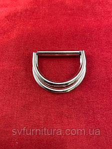 Металева перетяжка D 8 срібло 4 см