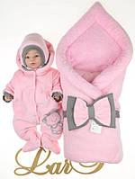 """Зимовий набір на виписку """"Маленька Принцеса"""" рожевий"""