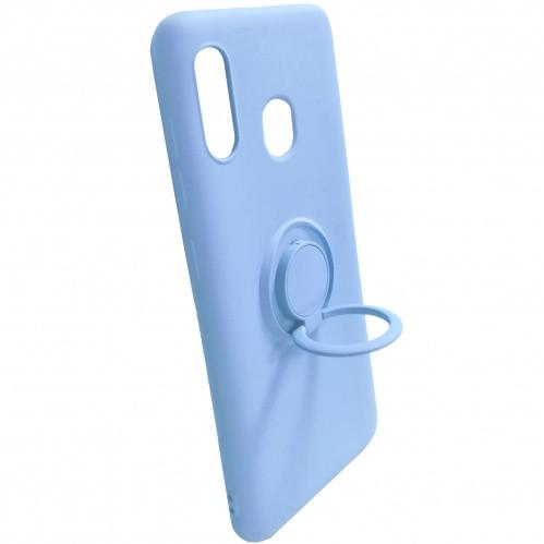 Силиконовый чехол Soft Silicone CaseVsMagnet Ring Samsung  A305 Galaxy A30/A205 Galaxy A20 Light Purple