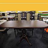 """Дерев'яний обідній стіл """"Монарх"""" на одній нозі, фото 3"""