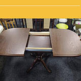 """Дерев'яний обідній стіл """"Монарх"""" на одній нозі, фото 4"""